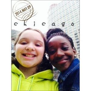 Zoë and Chaliyah in Chicago, 2014